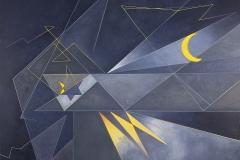 "Fay Kravitz Biegun, Exchange: Dedication to Gilad Shalit, oil on canvas, 36"" x 44"", $1450"