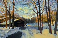 """Arnold Goran, Winter, Mariel Farm, digitally enhanced photograph, 13""""x19"""" on a 20""""x24"""" matt, unframed, $150."""