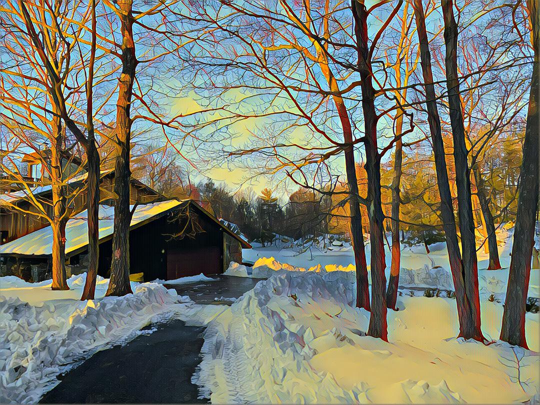 Arnold Goran, Winter, Mariel Farm